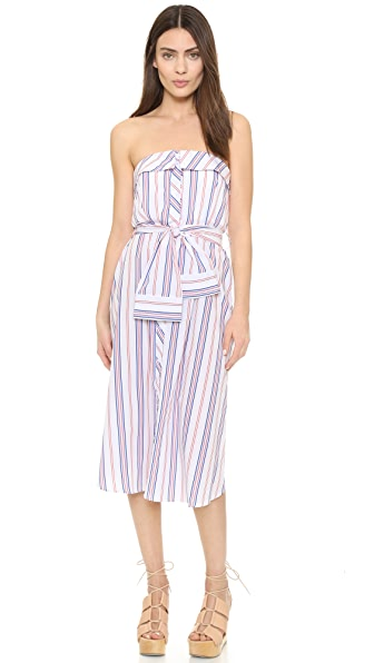Nicholas N/Nicholas Strapless Bustier Dress - Red Stripe