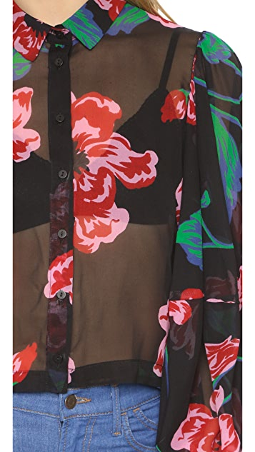 Nicholas Print Floral Full Sleeve Blouse