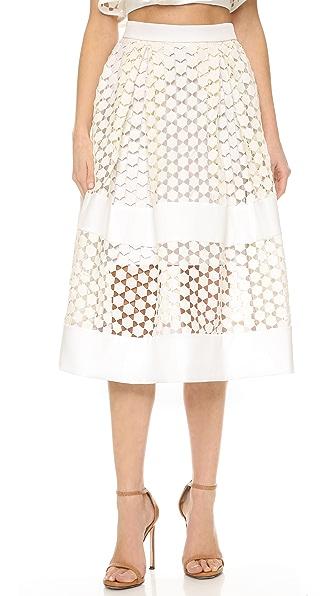 Бальная юбка Geo с кружевными вставками