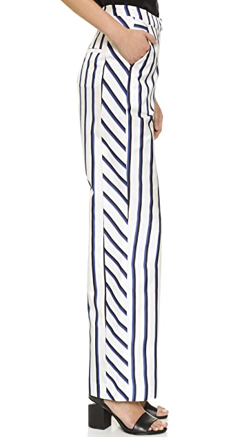 Nicholas Dual Stripe Wide Leg Pants