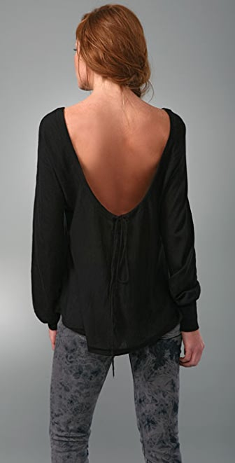 Nightcap x Carisa Rene Cashmere Drop Back Sweater