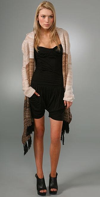 Nightcap x Carisa Rene Cashmere Poncho Scarf Sweater