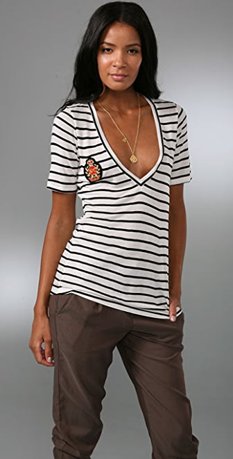 Nightcap x Carisa Rene Patch V Neck Tee