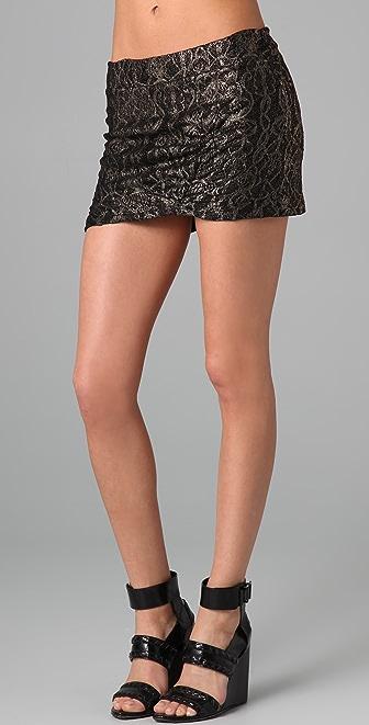 Nightcap x Carisa Rene Gold Lace Miniskirt