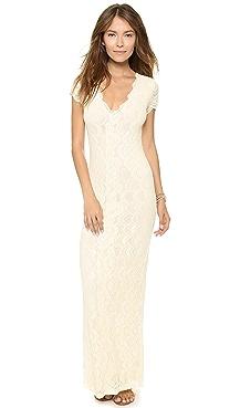 Nightcap x Carisa Rene Victorian Lace Cap Sleeve Dress