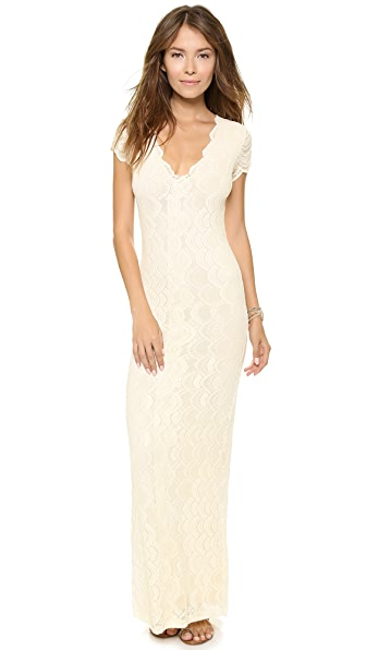 Nightcap Clothing Victorian Lace Cap Sleeve Dress