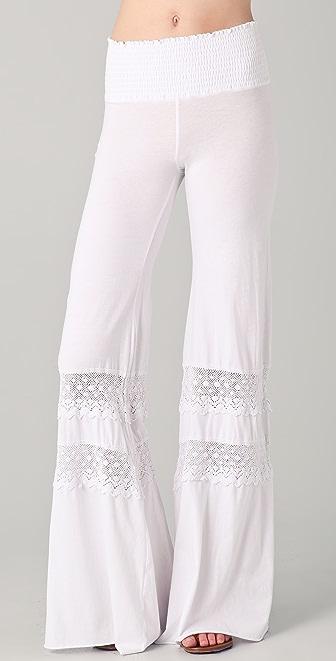 Nightcap x Carisa Rene Smocked Crochet Beach Pants
