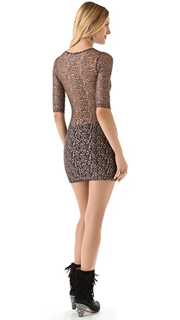 Nightcap x Carisa Rene Cheetah Lace Dress