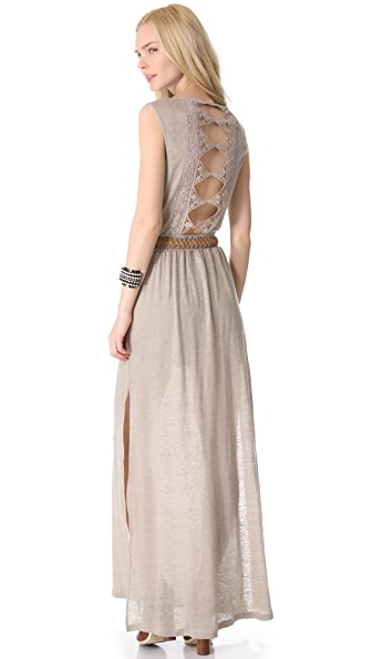 Nightcap x Carisa Rene Diamond Lace Maxi Dress