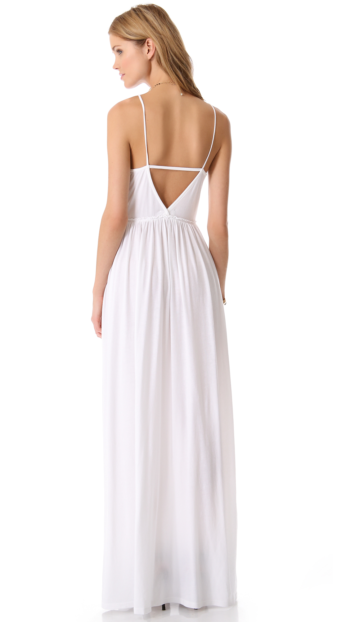 Maxi white beach dress