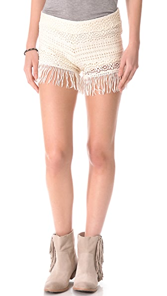 Nightcap Clothing Crochet Fringe Shorts
