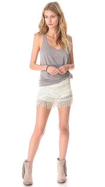 Nightcap x Carisa Rene Crochet Fringe Shorts
