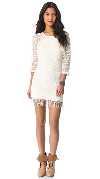 Nightcap Clothing Fringe Raglan Dress