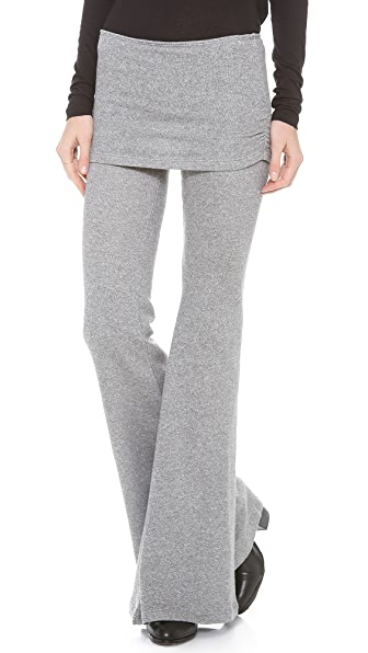 Nightcap Clothing Terry Foldover Flare Pant