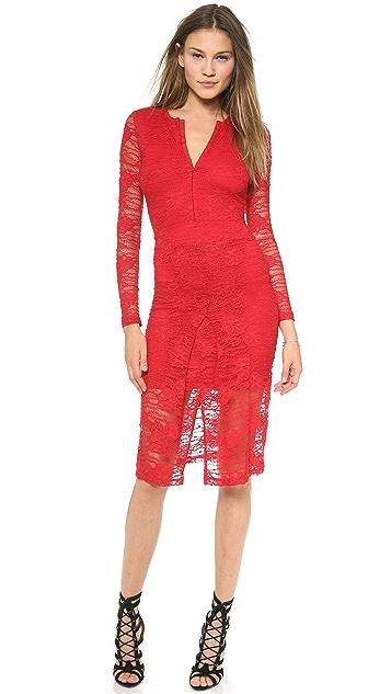 Nightcap x Carisa Rene Marigold Pencil Lace Dress
