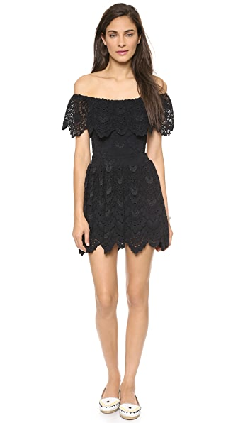 Nightcap Clothing Riviera Lace Fit & Flare Dress