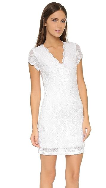 Nightcap x Carisa Rene Deep V Cap Sleeve Dress
