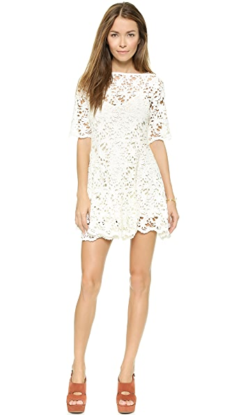 Nightcap x Carisa Rene Daisy Crochet Fit & Flare Dress