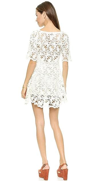 Nightcap x Carisa Rene Daisy Crochet Fit & Flare Dress