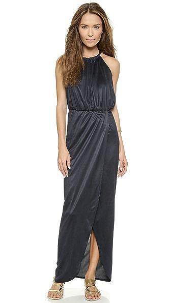 Nightcap x Carisa Rene Vegan Sueded Halter Gown