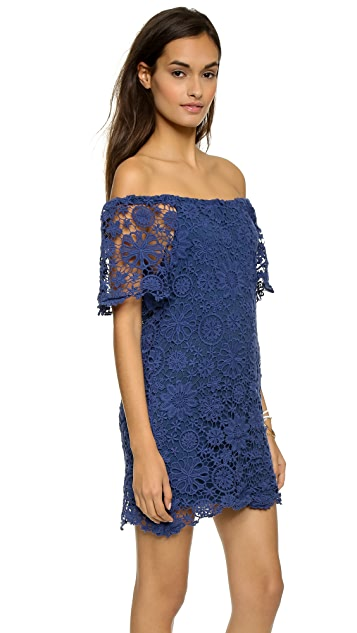 Nightcap x Carisa Rene Crochet Off Shoulder Dress