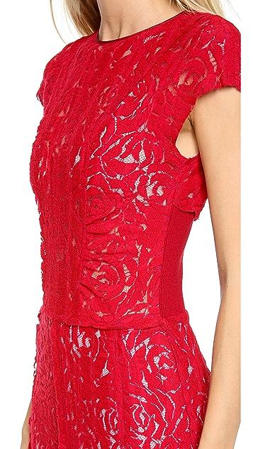 Nina Ricci Cap Sleeve Lace Dress