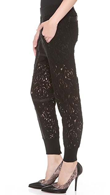 Nina Ricci Lace Seamed Jogging Pants