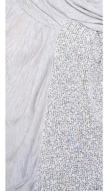 Nina Ricci Mixed Draped Sleeveless Top