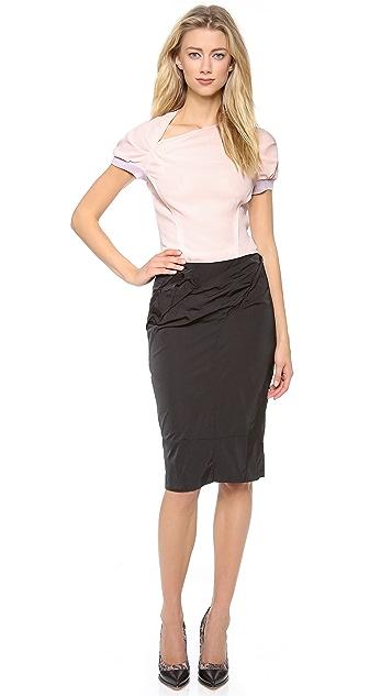 Nina Ricci Cap Sleeve Side Slash Top