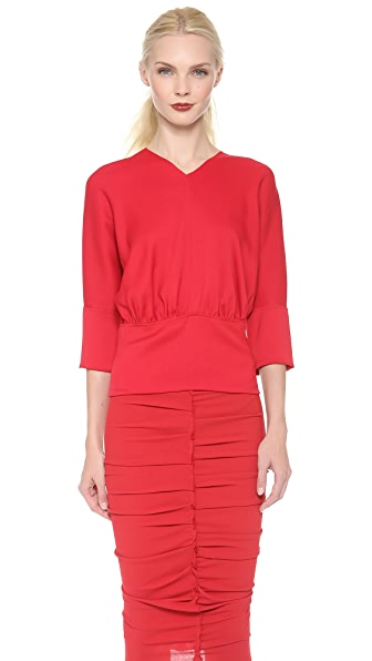 Nina Ricci High V Neck Top