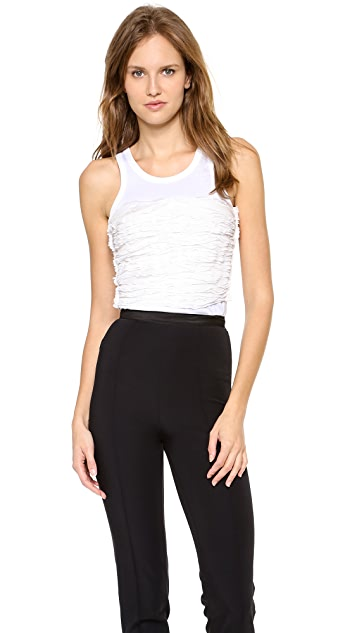 Nina Ricci Shirred Front Tank Top