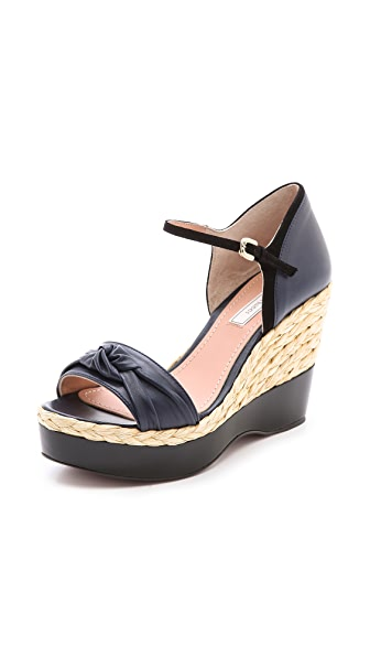 Nina Ricci Knotted Espadrille Wedges