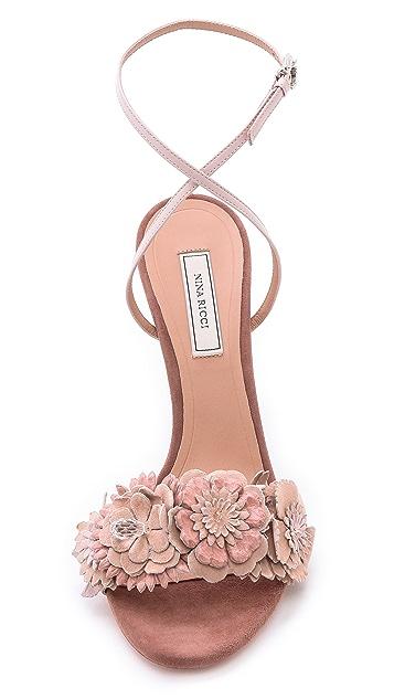 Nina Ricci Floral Snake Sandals