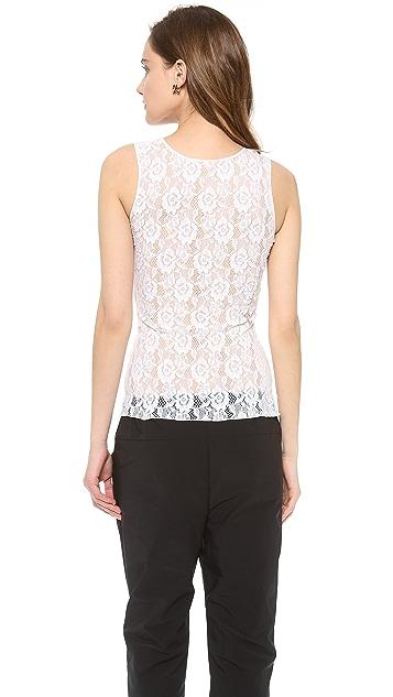 Nina Ricci Sleeveless Lace Top