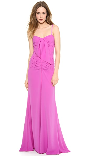 Nina Ricci Ruched Silk Gown