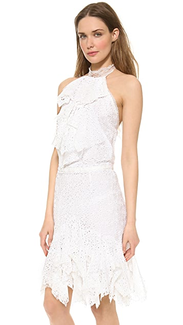 Nina Ricci Sleeveless Eyelet Dress