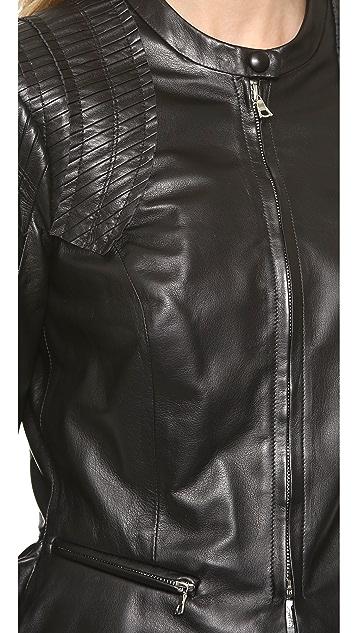 Nina Ricci Black Leather Jacket
