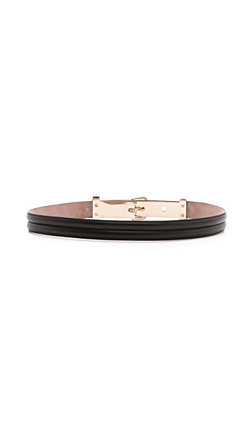 Nina Ricci Slim Leather Belt