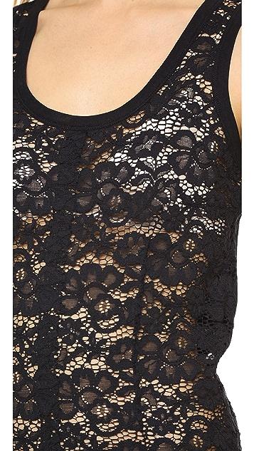 Nina Ricci Sheer Lace Tank