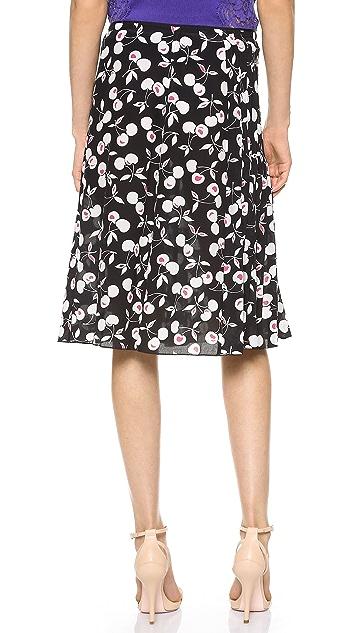 Nina Ricci Pleated Print Skirt