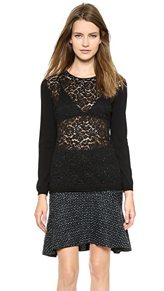 Nina Ricci Lace Long Sleeve Blouse