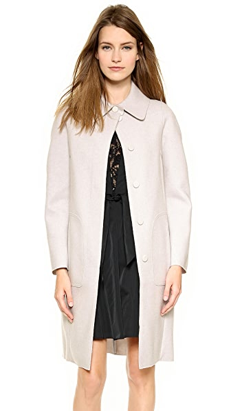 Nina Ricci Pintuck Wool Coat