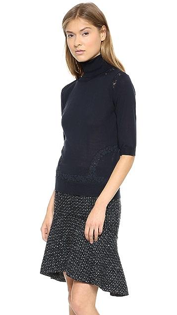 Nina Ricci Short Sleeve Pullover Sweater