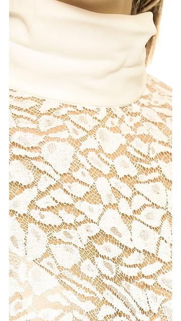 Nina Ricci Lace Panel Blouse