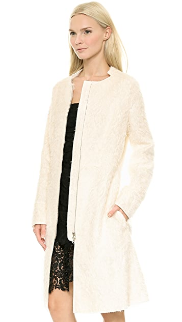 Nina Ricci Imitation Fur Coat
