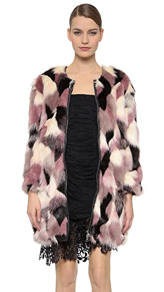 Nina Ricci Reversible Faux Fur Coat