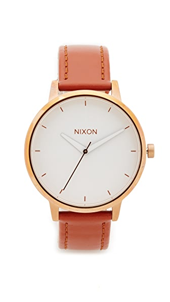 Nixon Kensington Leather Watch at Shopbop