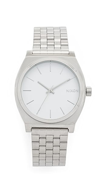 Nixon Time Teller Watch - Silver/White