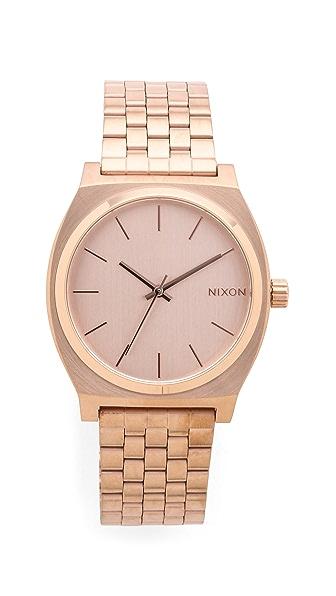 Nixon Time Teller Watch - Rose Gold