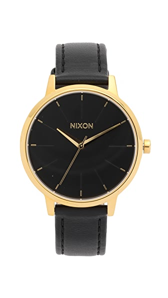 Nixon Kensington Watch with Leather Strap